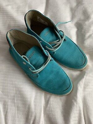 Ladies Blue Leather Flat Shoes By Lacoste • 15£