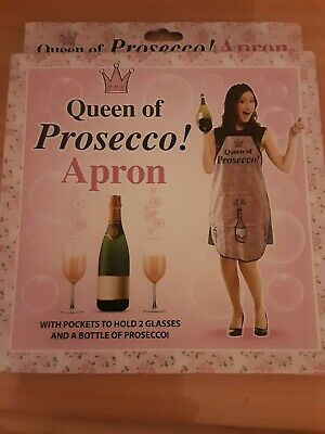 Ladies Queen Of Prosecco Apron Novelty Kitchen BBQ Cooking Gift • 3£