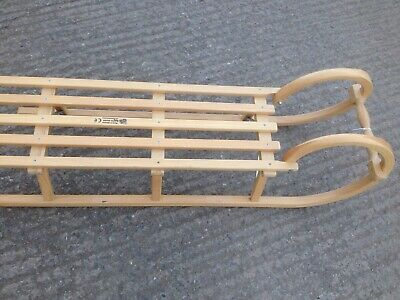 £72 • Buy Traditional Wooden Sledge With Steel Runners
