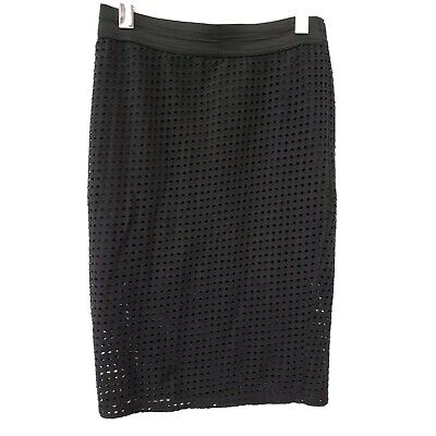 Zara Trafaluc Womens Pencil Skirt Black Pull On Net Stretch Size S  • 9.21£