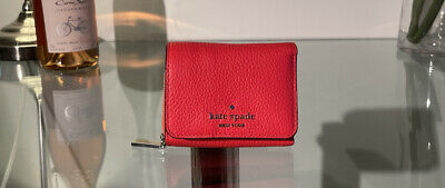 $ CDN59 • Buy Nwt Kate Spade Leila Small Trifold Continental Leather Wallet In Red