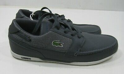 Lacoste Dreyfus GRAY Moc Leather MEN Shoes Size 9,8 (not Same Size Pair) • 13.47£