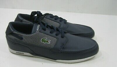 Lacoste Dreyfus BLUE Moc Leather MEN Shoes Size 9.5,8.5 (not Same Size Pair) • 13.47£