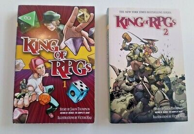King Of RPGs Volumes 1 & 2 - Jason Thompson And Victor Hao - Manga Books • 5.99£