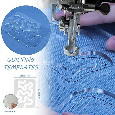 $12.08 • Buy DIY Quilting Templates Sewing Machine Domestic Free Motion Transparent Meander