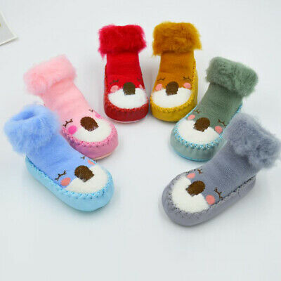 £4.99 • Buy Baby Toddler Kids Anti-slip Crawling Socks Shoes Thicken Slipper Boots Christmas