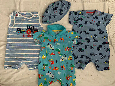 Blue Zoo Debenhams Set 6-9 Months Dungarees / Romper Suits Bundle Summer Holiday • 5£
