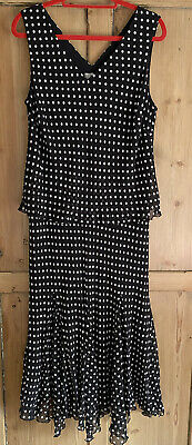 Country Casuals Navy Polka Dot Dress Size 18 UK • 15£
