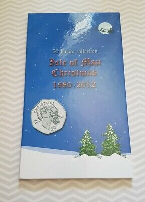 Isle Of Man Christmas 50p Fifty Pence Coin Folder Album Xmas First Edition RARE  • 69.99£