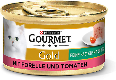 Purina GOURMET Gold Fine Pate, High-quality Cat Wet Food, Pet Food, With Vegetab • 11.99£