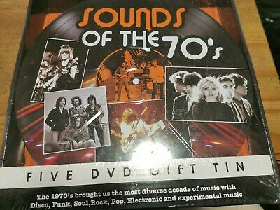 Sound Of The 70's 5 Disc DVD Gift Tin Disco Funk Soul Rock Pop Electronic • 11£