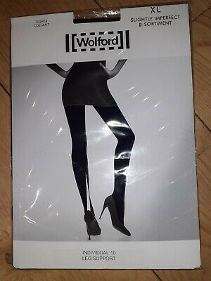 Wolford Corrant Individual 10 Leg Support Black XLarge Tights • 16.99£