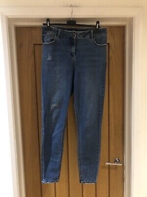 Ladies Matalan Blue Stretch Skinny Jeans Size 14 • 2.20£