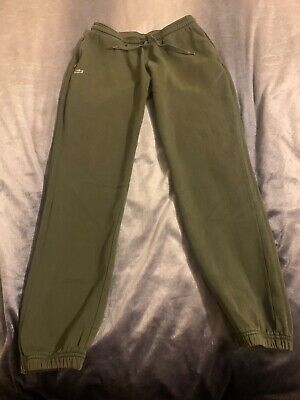 Mems Dark Green Lacoste Tracksuit Bottoms Size Medium • 20£