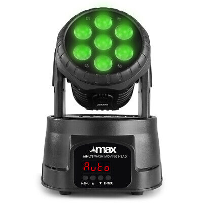 £80.99 • Buy Max 150.998 MHL73 Wash Moving Head 7x 8W 4-in-1 LED