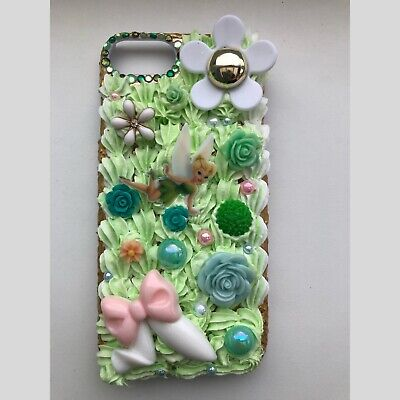 Iphone 7/8  Kawaii Tinkerbell Decoden Whipped Cream Case , Disney , DIY Case • 19£