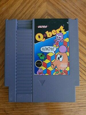 $ CDN19.03 • Buy Nintendo NES Q*bert Qbert Q Bert Video Game Cartridge *Authentic/Tested* 1985