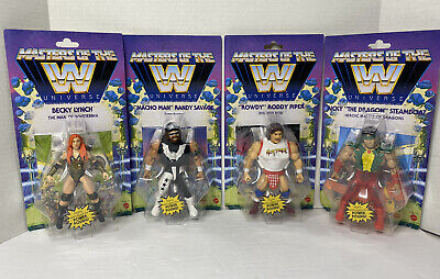 $119.99 • Buy WWE Masters Of The Universe Becky, Ricky, Macho Man, Rowdy Wave 5 Complete Set