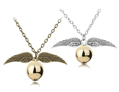 $ CDN5.10 • Buy Wizard Necklace For Harry Potter Golden Snitch Cosplay Costume Jewellery Gift UK