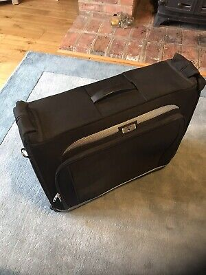 Antler Wheeled Suit Carrier - Black Fabric - Used Once. Excellent Condition! • 25£