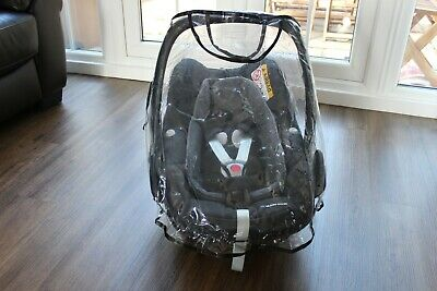 Maxi Cosi Pebble Plus Car Seat Black With Rain Cover I-size 0-12months USED • 30£