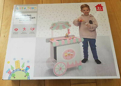 Brand New Little Town Wooden Ice Cream Cart Childrens Toys Kids Age 3 Years Up • 34.95£
