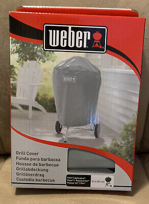 $ CDN12.66 • Buy Weber Charcoal BBQ Grill Cover Weather Resistant For 22  Large Kettle 7176 Gray