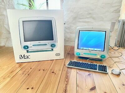 Boxed & Immaculate Condition Apple IMac G3 DV Blueberry Model 2,1 1999 400MHz • 998£