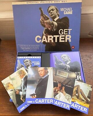 Get Carter Special Edition Box Set Vhs / Screenplay / Art Cards Rare Collectors • 29.99£
