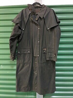 $84.99 • Buy Outback Trading Mens Oilskin Low Rider Duster Coat Black Waxed Cotton Sz L