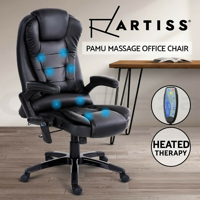 AU249.90 • Buy Artiss Massage Gaming Office Chair 8 Point Heated Chairs Computer Seat Black
