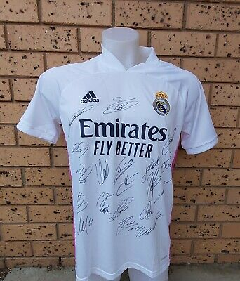 AU150 • Buy Real Madrid  Signed Team Jersey 2020/2021+coa
