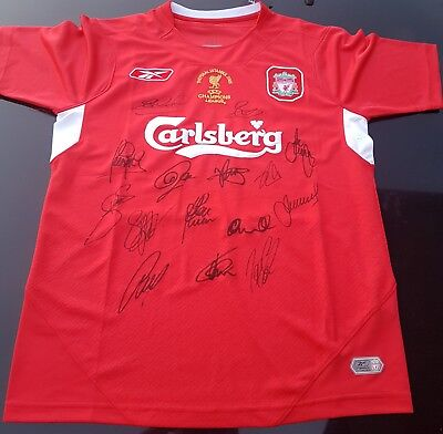AU175 • Buy Liverpool 2005 Signed Champions League Winners  Jersey + Proof