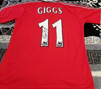 AU145 • Buy Ryan Giggs Personally Hand Signed Manchester United  Jersey+proof