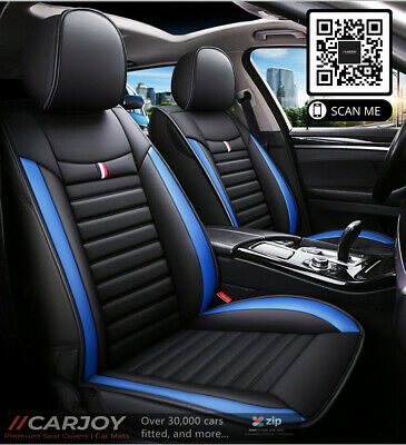 AU159 • Buy Blue Black PU Leather Car Seat Cover For Mitsubishi Lancer Outlander ASX Triton