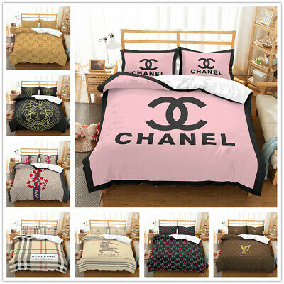AU81.25 • Buy 3D Fashion Letter Perfume Bedding Set 2/3Pcs Duvet Cover & Pillowcase(s)  UK6