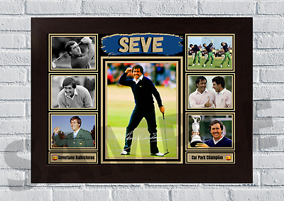 £13.99 • Buy Seve Ballesteros Golf Icon A4/A3 Autograph/Print/Framed/Unframed Signed Gift #74