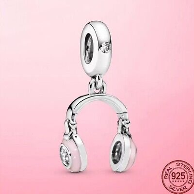 AU26 • Buy Sterling Silver Pink Headphone Dangle Charm By Pandora's Queen