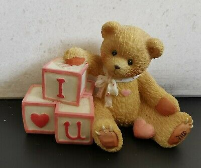 Cherish Teddy I Love You Bear With Love Letters. Boxed. 1996 • 2.49£