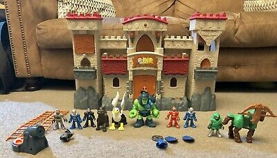 Imaginext Fisher Price Castle Medieval Knights Horses Ogre & Figures Accessories • 0.99£