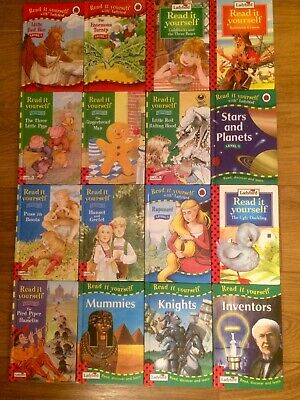 Job Lot 16 Ladybird Read It Yourself Books 12 Traditional Stories 4 Non Fiction • 9.99£