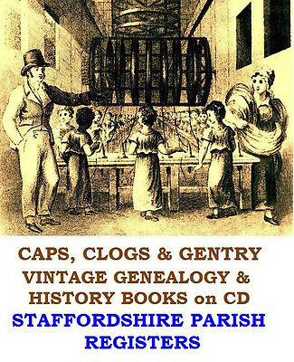 Staffordshire Parish Registers 23 Vintage Books On CD Genealogy Family Research • 3.99£