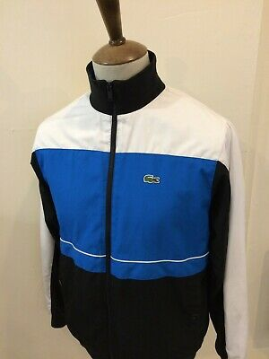 LACOSTE TRACKSUIT TOP SIZE SMALL No3 BLUE / WHITE • 25£