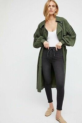 Free People Black High Lace Legging Jeans W27 • 10£