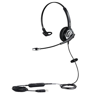 USB Headset With Noise Cancelling Microphone For Office Call Center Skype Teams • 44.60£