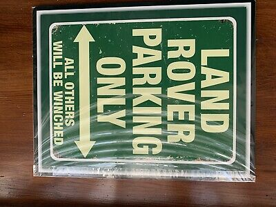 10 X 8  LAND ROVER PARKING RANGE ROVER EVOQUE DEFENDER METAL PLAQUE TIN SIGN 582 • 4£