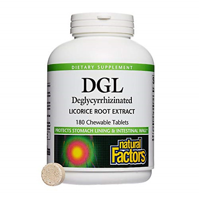 Natural Factors - DGL Licorice Root 400mg, Supports The Integrity Of The Stomach • 18.48£