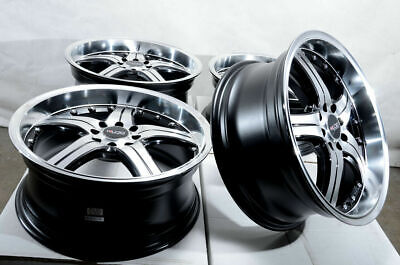 $649 • Buy 18x8 Black Wheels Rims 4x100 4x114.3 Fit Hyundai Elantra Sonata Honda Civic (4)