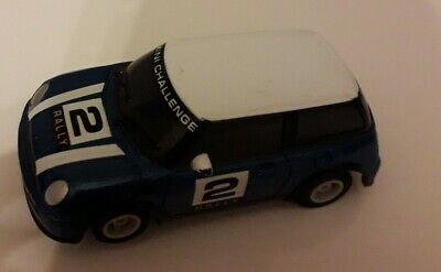 Micro Scalextric BMW Mini Rally Challenge No 2 Blue Excellent Condition #146 • 6£