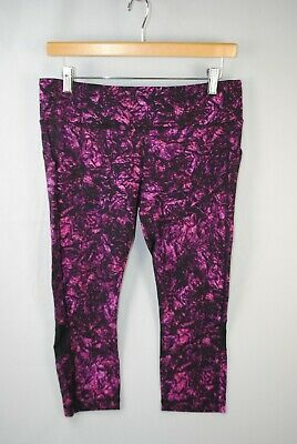 $ CDN37.96 • Buy Lululemon Crop Capri Leggings Zip Pocket Sz 10 | 21  Inseam Purplee Floral